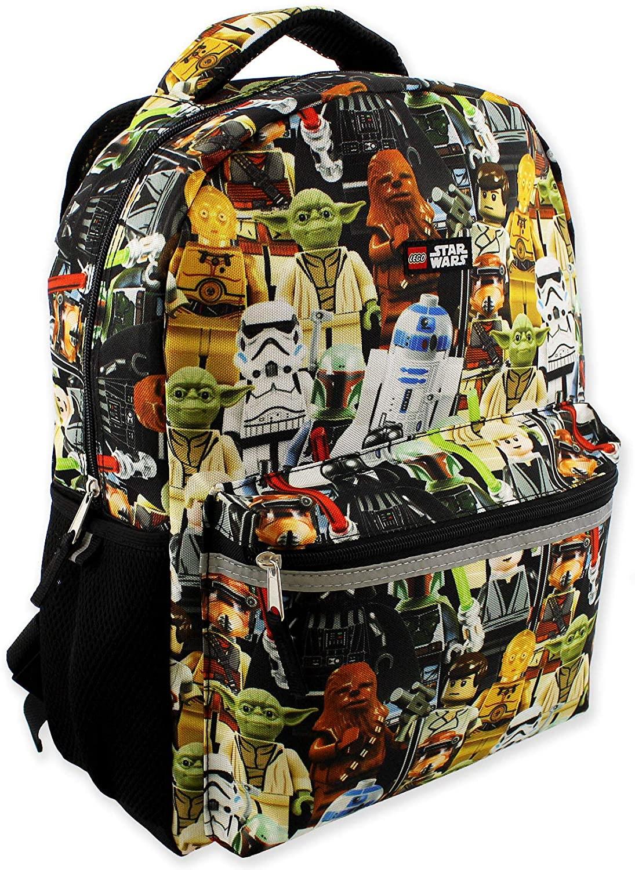 Lego Star Wars Boys Girls Adult 16 Inch School Backpack (One Size, Lego Star Wars)