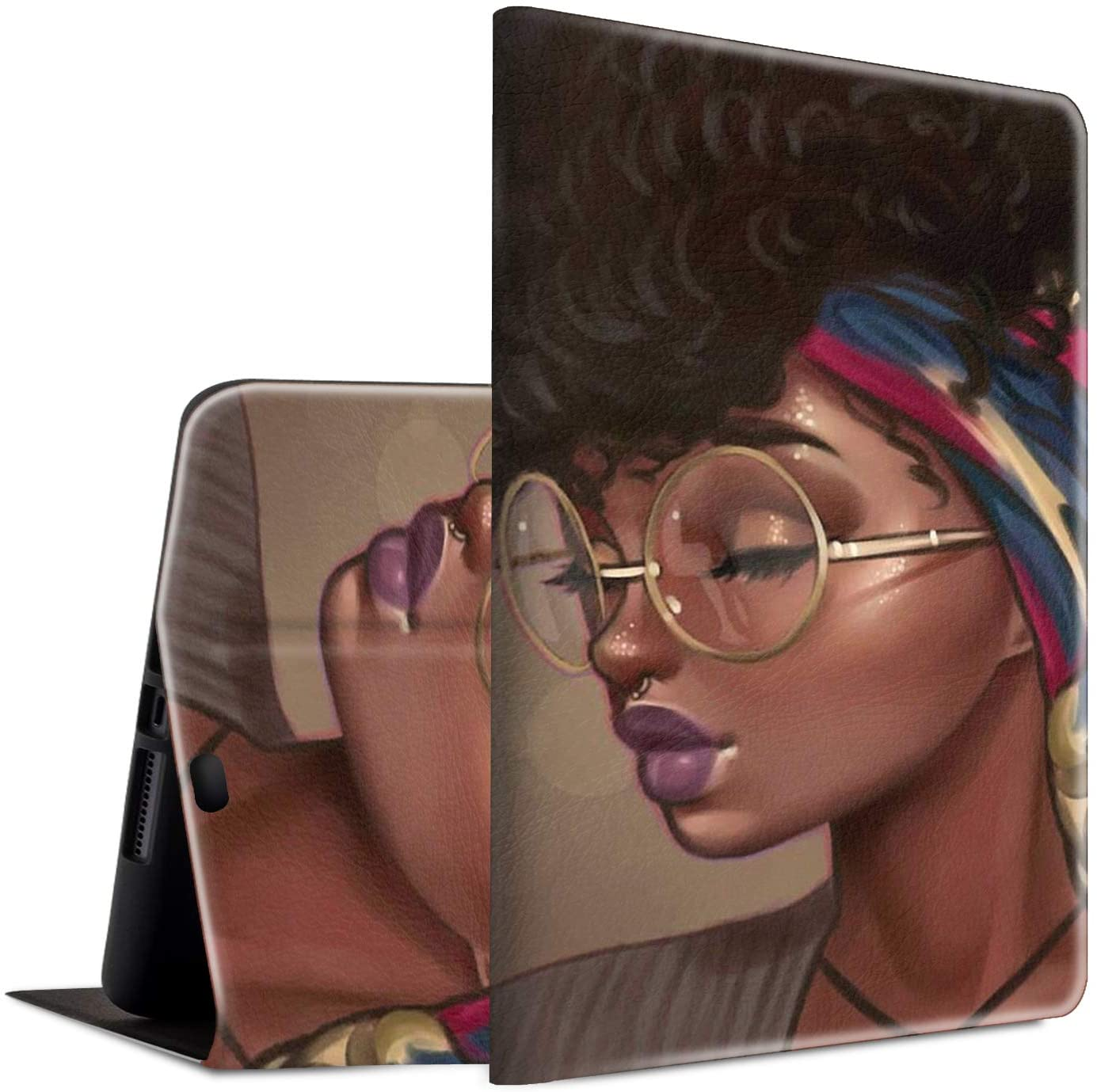 iPad Pro 11 Case 2018, Spsun Lightweight PU Leather Folio Cover Adjustable Stand with Auto Wake/Sleep Smart Protect Case for Apple iPad Pro 11 (2018 Release) - Afro Hair Black Girl