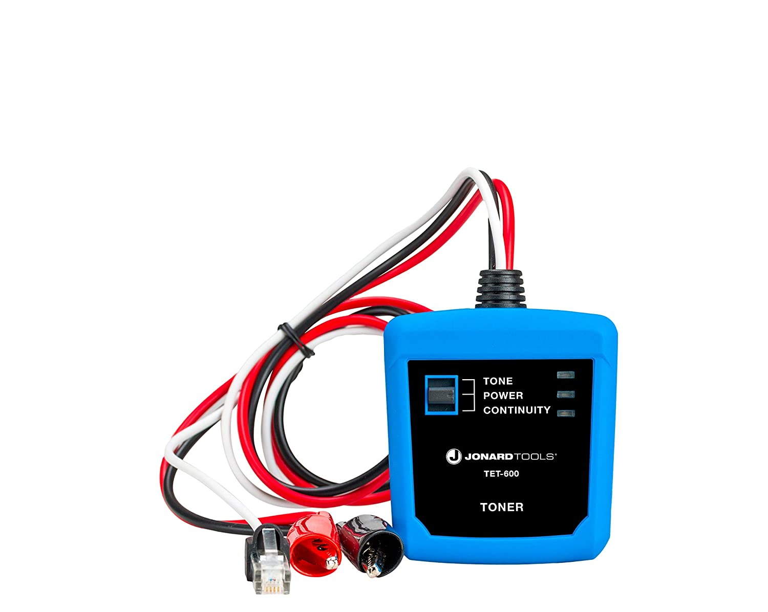 Jonard Tools TET-600 Cable Tester and Toner for Testing Cable Continuity and Telephone Line Polarity