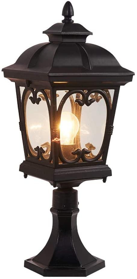 Pcqre Retro Creative Lighting Street Lamp Ip23 Waterproof Rust Pillar Light American Courtyard Decorative Column Lamp Outdoor Garden Aluminum Post Lamp
