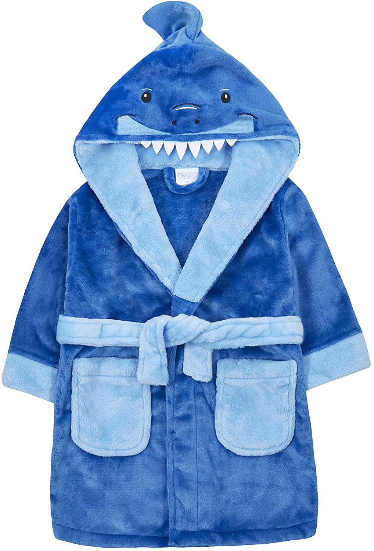 Childrens/Boys Novelty Shark Design Fleece Dressing Gown