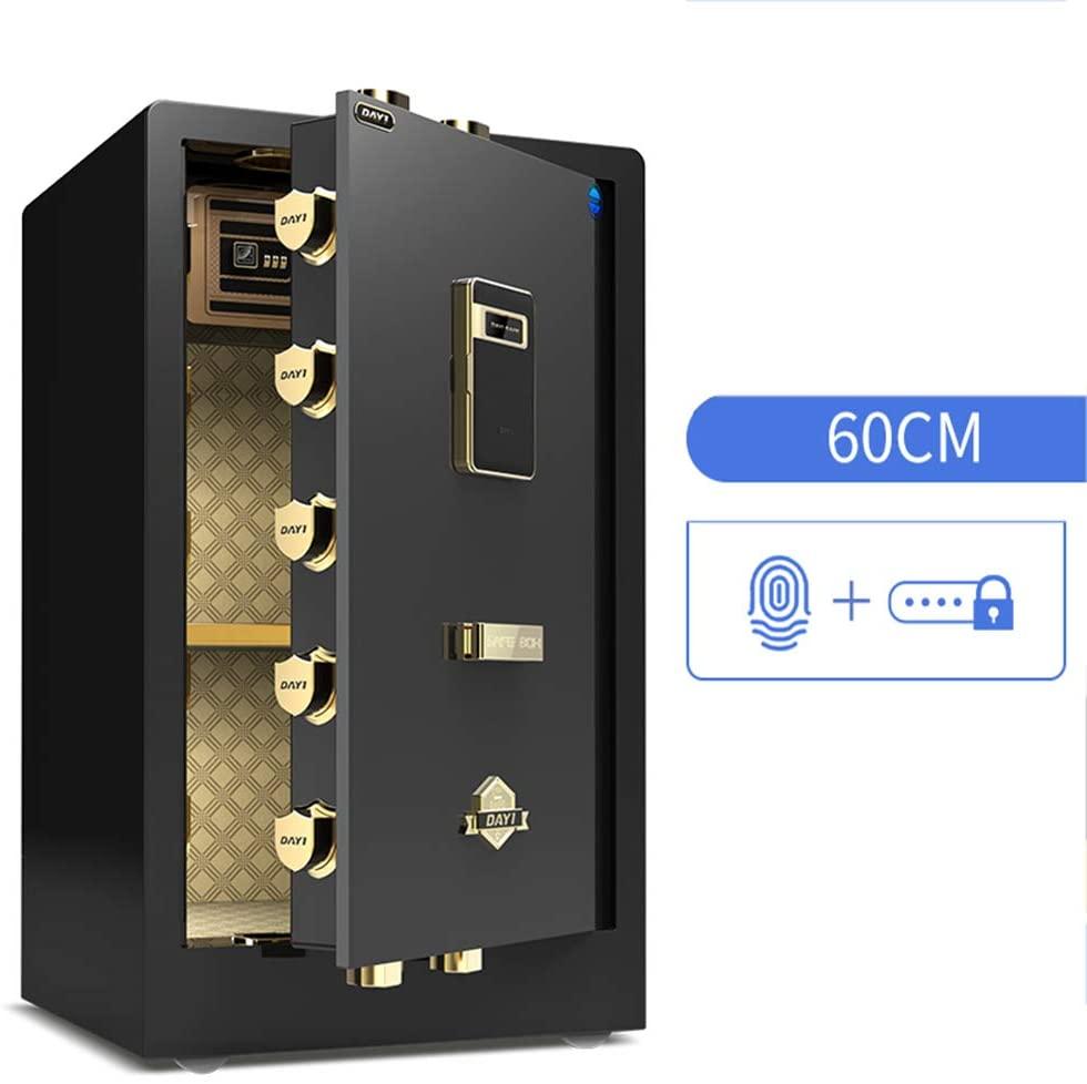 YU-CZB 60cm/36kg Safe Can Enter The Wall Office Safe Deposit Box Anti-Theft All-Steel Safes,Black,Fingerprint Password