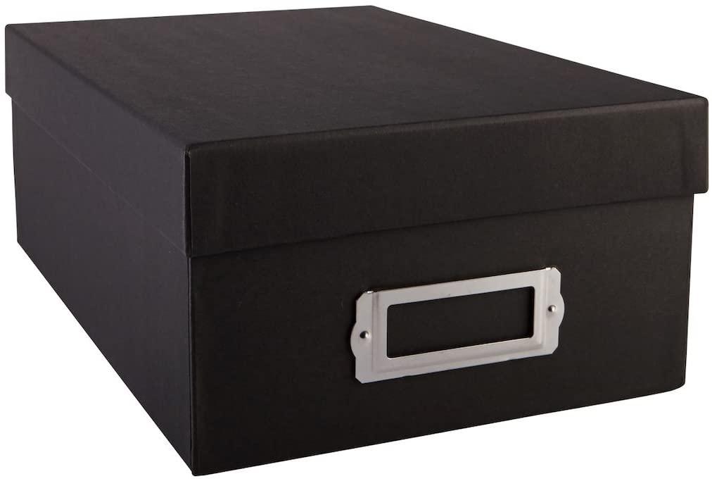 Recollections Black Memory Photo Storage Box 12.25