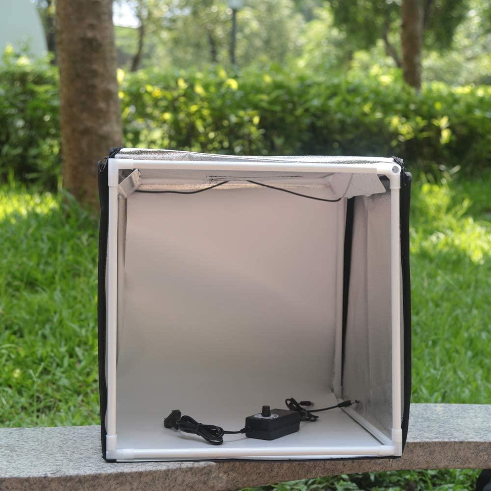 QWERTOUY W40 LED Folding Photo Studio Softbox Lightbox 4040 Light Tent with White Yellow Black Background Accessories Box Light