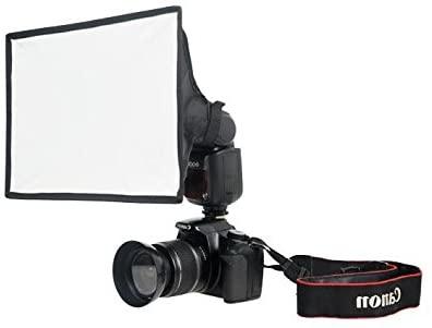 "FOTOCREAT 8""×12""(20×30cm) Flash Diffuser Light Softbox for Canon, Yongnuo and Nikon Speedlight"