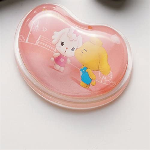 Heart-shaped transparent mouse pad wrist strap hand creative cute cartoon silicone office hand pillow crystal wrist pad, B