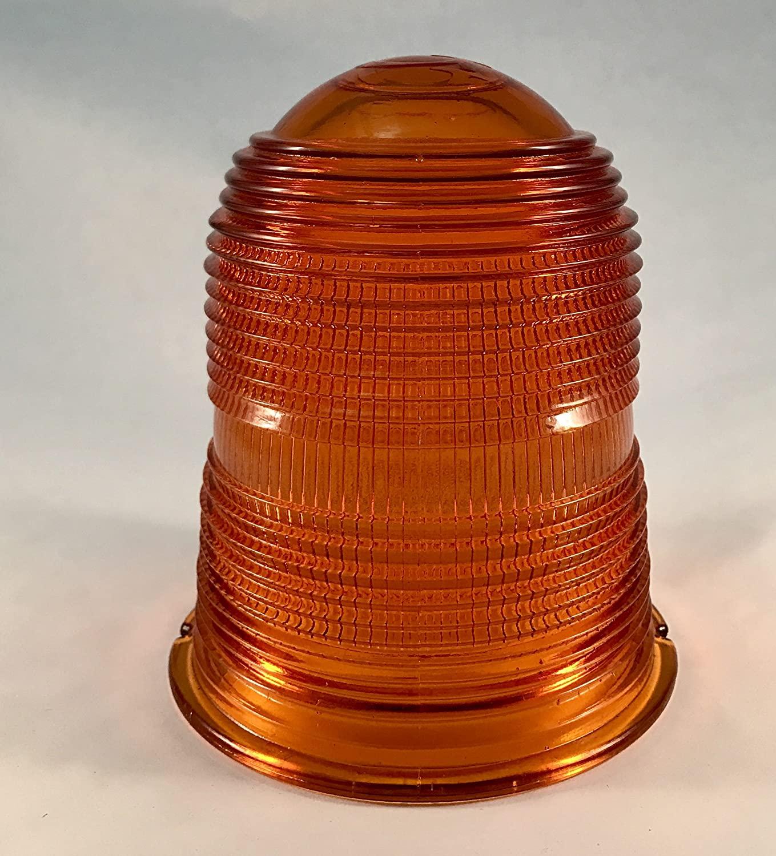 V990Y Fresnel Glass Globe for TVA Obstruction Light AVIATION YELLOW