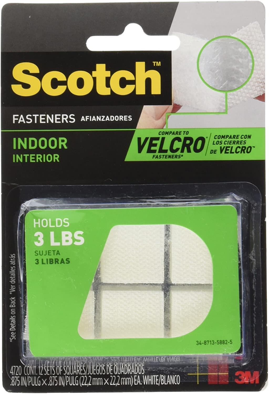 3M Indoor Fasteners White 7/8