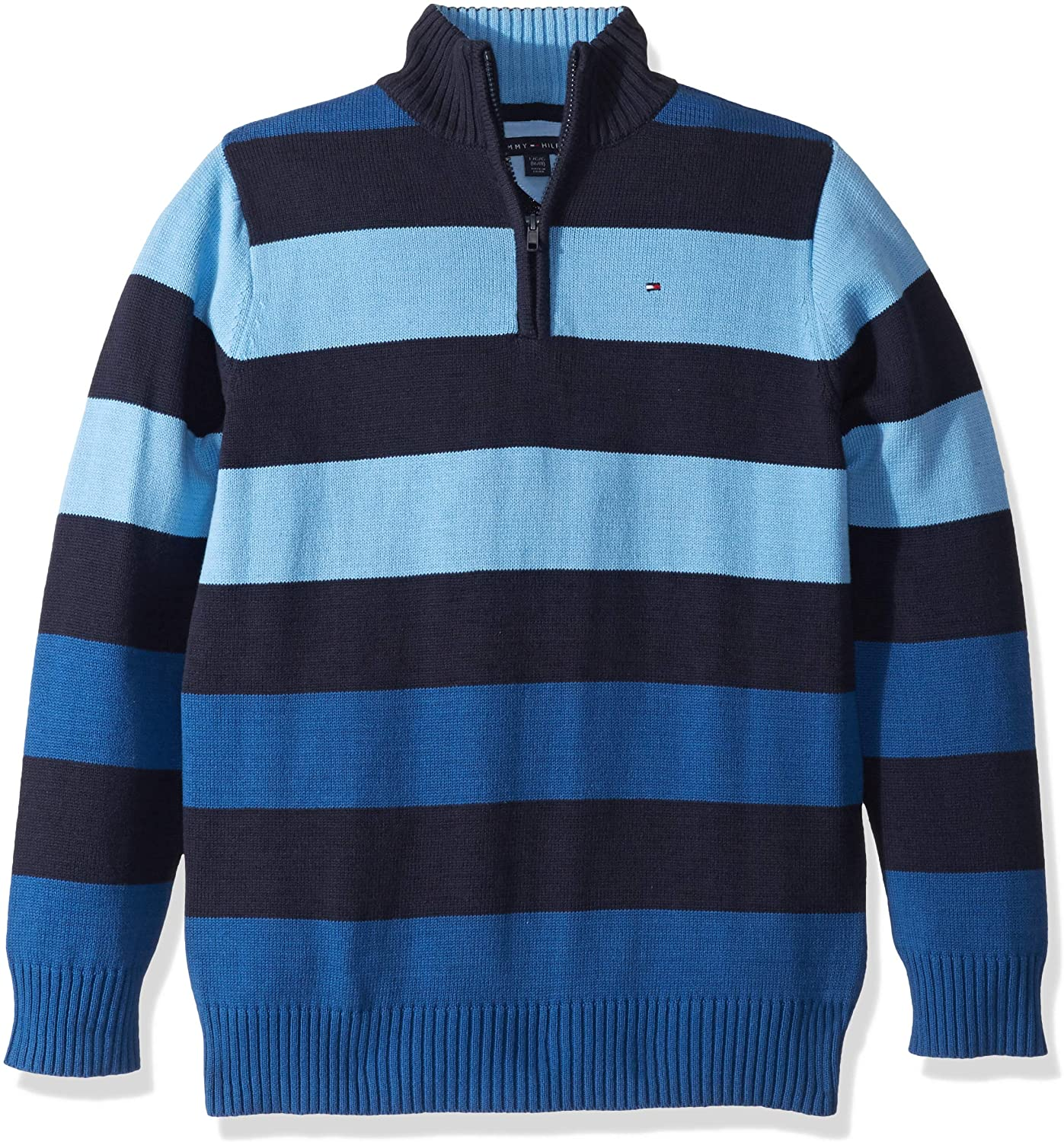 Tommy Hilfiger Boys Long Sleeve Half Zip Pullover Sweater