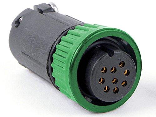 Conxall 6380-4Sg-516Cc7 Mini-Con-X, Green Coupling Straight Cable Plug 4 Socket - Crimp Contacts