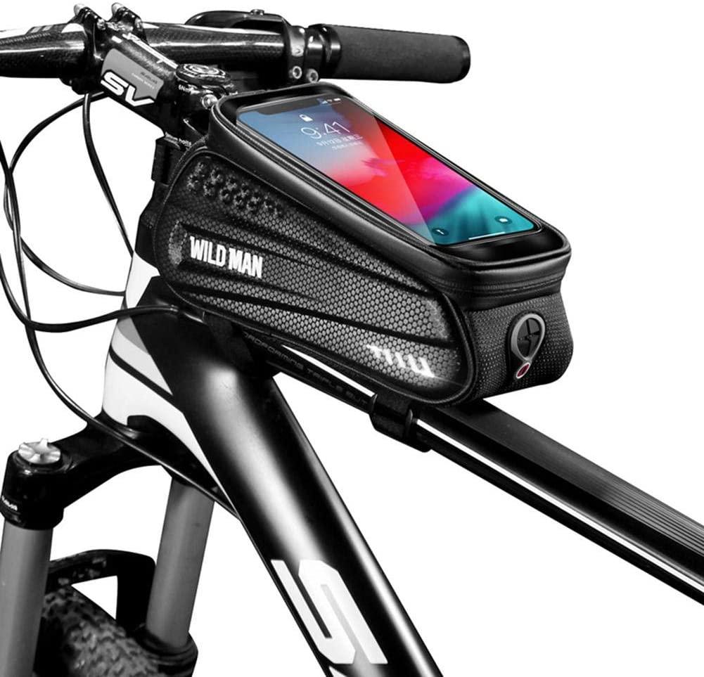Nanle Bike BagBicycle Frame Bag Large Capacity Pressure-Resistant Bike Waterproof Handlebar Bag Suitable for Smartphones Under 6.5 Inches