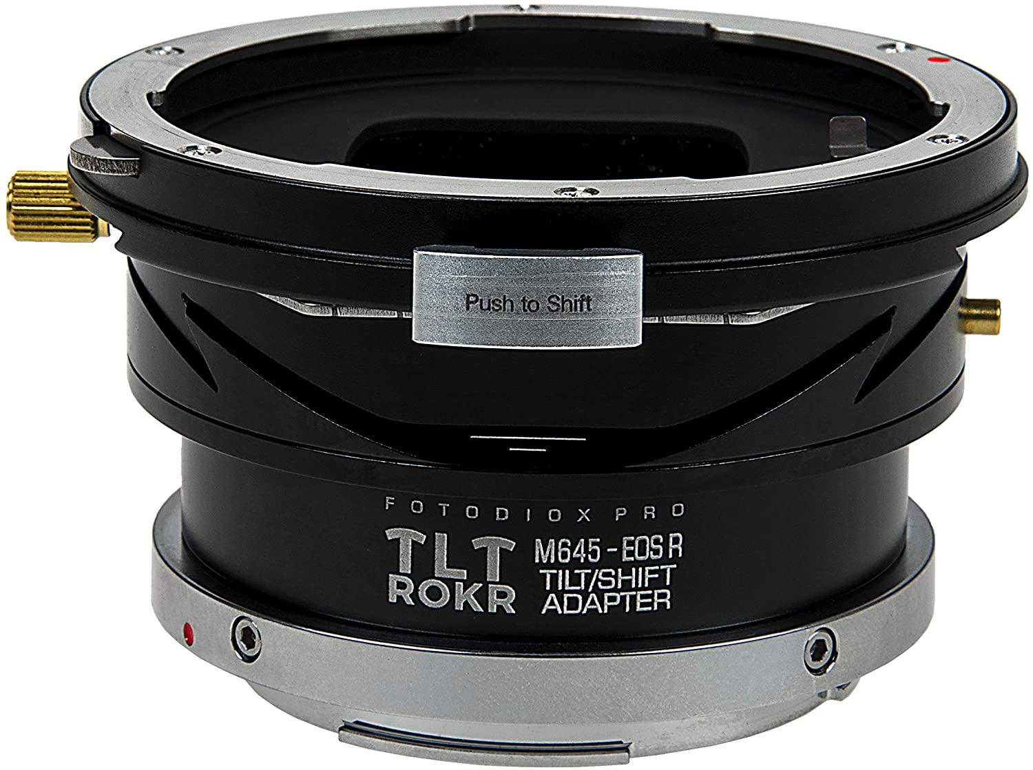 Fotodiox Pro TLT ROKR - Tilt/Shift Lens Mount Adapter Compatible with Mamiya 645 (M645) Mount Lenses to Canon RF Mount Mirrorless Camera Body