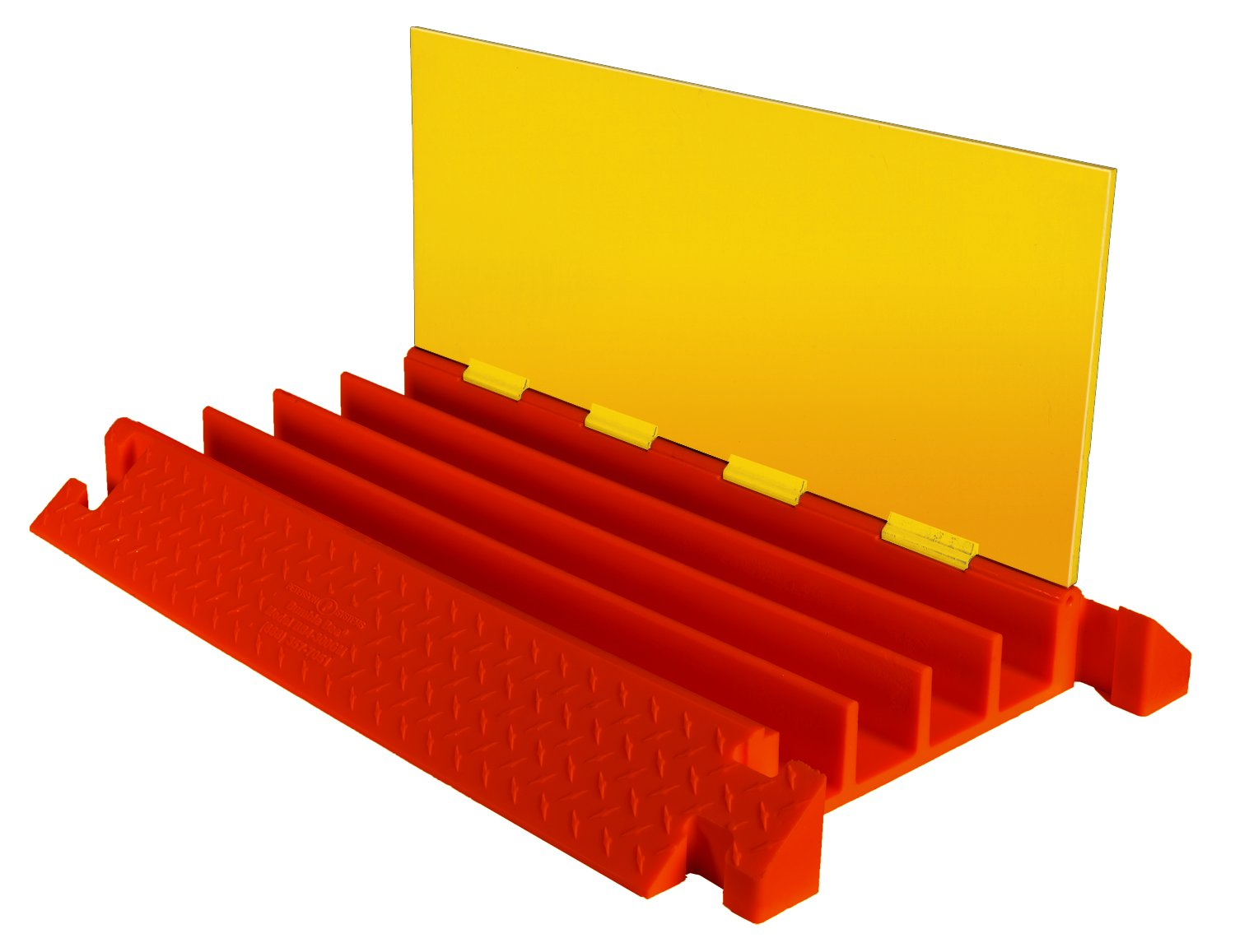 Checkers Industrial Safety Products CPEC4X300-O 4-Channel General Purpose Cable Protector with End Caps, Orange