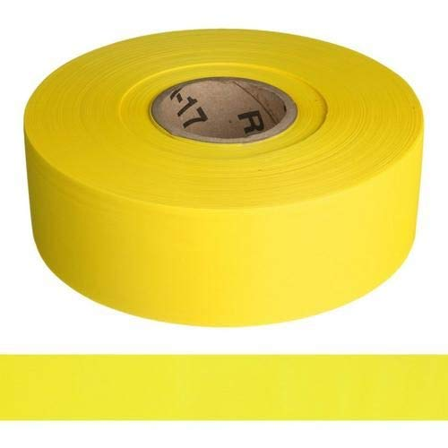 Harris Industries, Inc. BT-35-500-3mil 3in x 500ft Solid Color Yellow Barricade Tape