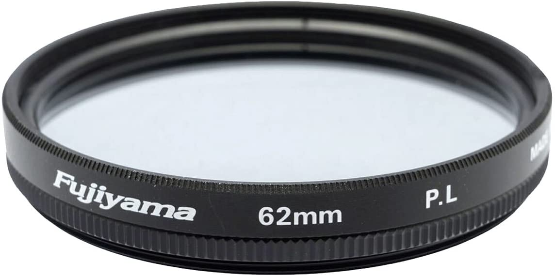 Fujiyama 62mm Polarizing Filter for Sony DT 55-300mm F4.5-5.6 SAM Made in Japan