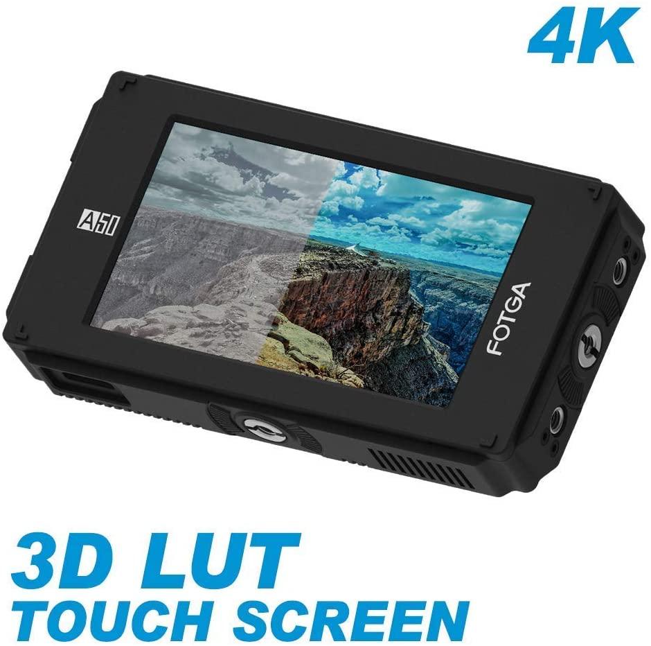 Fotga A50TLS 5 FHD Video On-Camera Touch Screen Field Monitor,3D LUT, 3G SDI and HDMI 4K Input/Output,1920x1080, Dual NP-F Battery Plate for Sony A7 A7R A7S II III Nikon D7200 D850 PANASONIC GH5/4