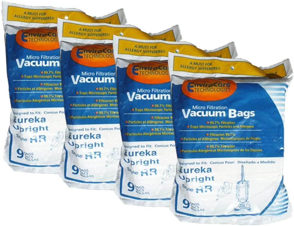 36 Eureka Type RR Upright Allergy Vacuum Bags, Omega Upright, Ultra, Boss Smart Vacuum Cleaners, 4800 Series...4870, 4874, 4875, 61115, 61115-12 (Filteraire), 4870GZ, 4870GZX, 4870J, 4870K, 4870M, 4870MZ