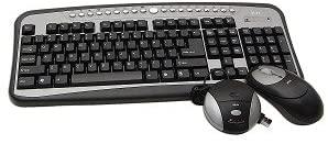 Ativa AT-K350 Wireless Multimedia Keyboard & Optical Mouse Kit (Black/Silver)