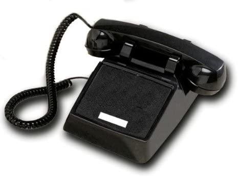 Cortelco ITT-2500NDL-BK 250000-VBA-NDL Black desk no dial