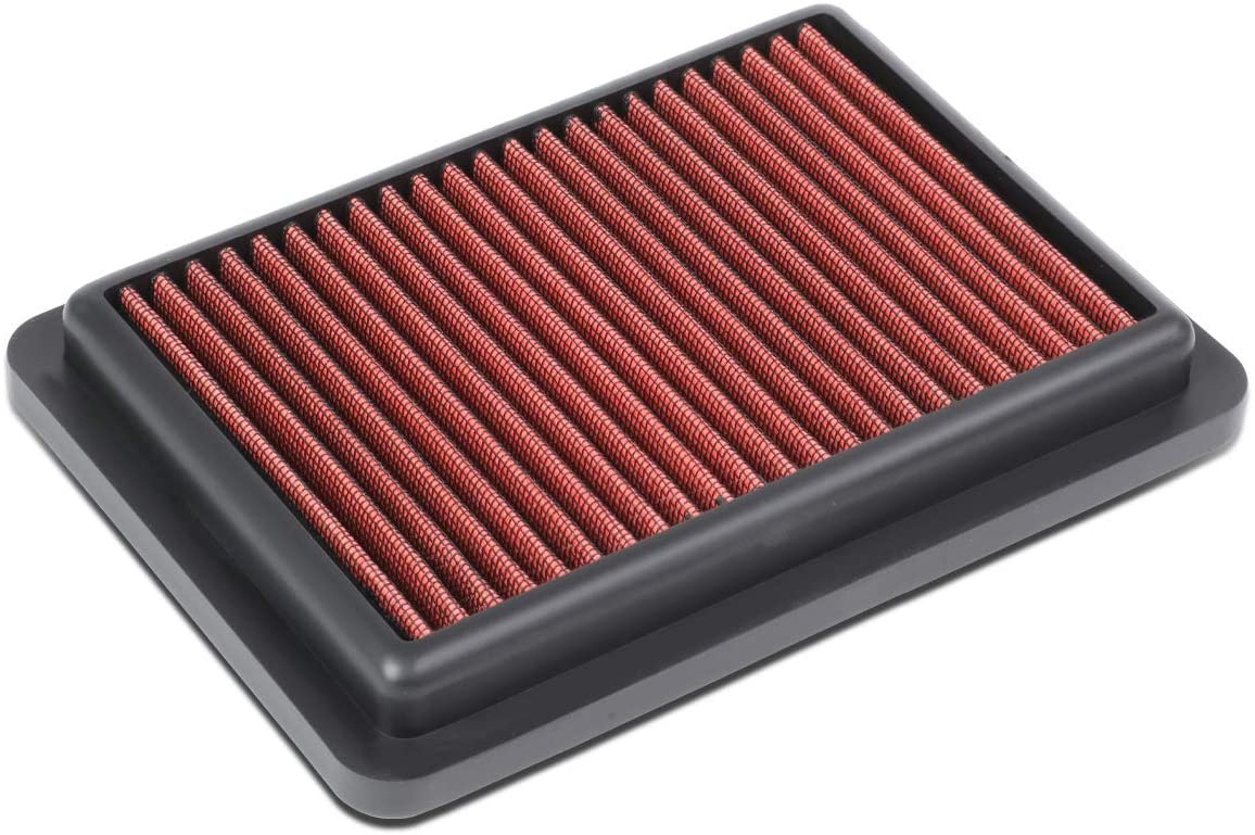 Red Washable Drop-In Air Filter Panel Replacement for Honda Fit 15-19