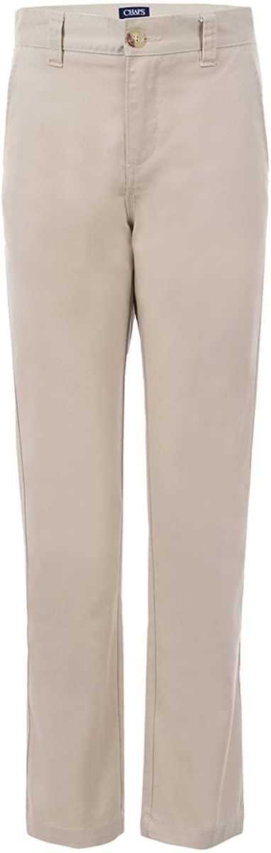 Chaps Boys' Flat Front Twill Chino Pants