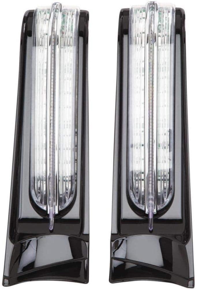 Ciro 40003 LED Saddlebag Accent Lights (Gloss Black Led Saddlebag Accent Lights For 2014-2016 Flh Touring Models)