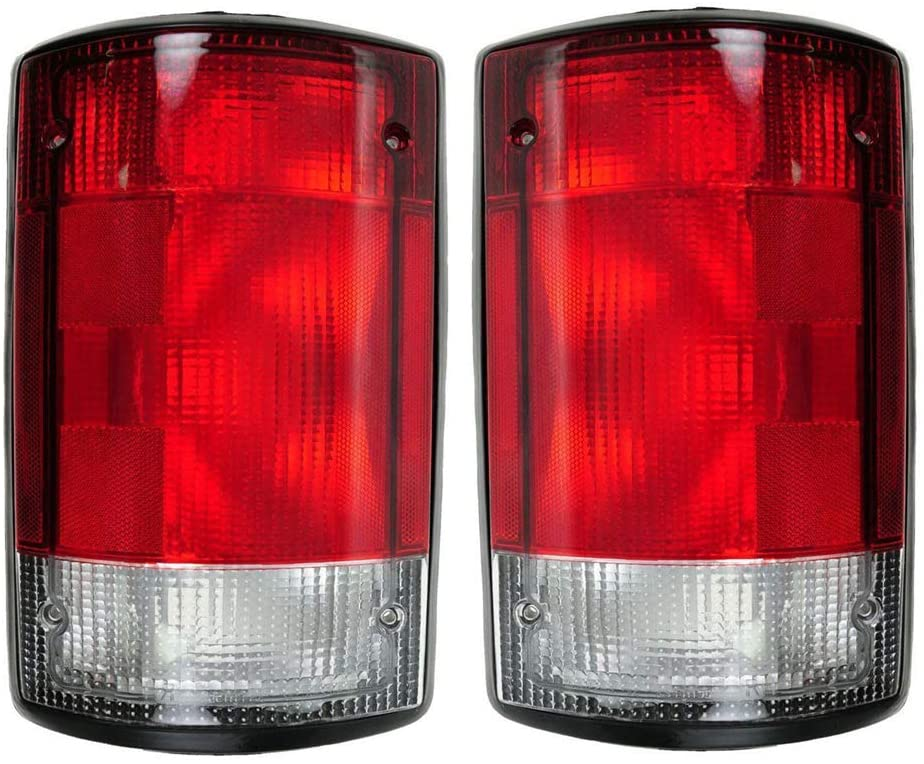 Epic Lighting OE Fitment Replacement Rear Brake Tail Lights Assemblies Compatible with 2004-2014 Econoline Econoline Van ExcursIon [FO2800190 FO2801190 5C2Z13405AA 5C2Z13404AA] Left & Right Sides Pair