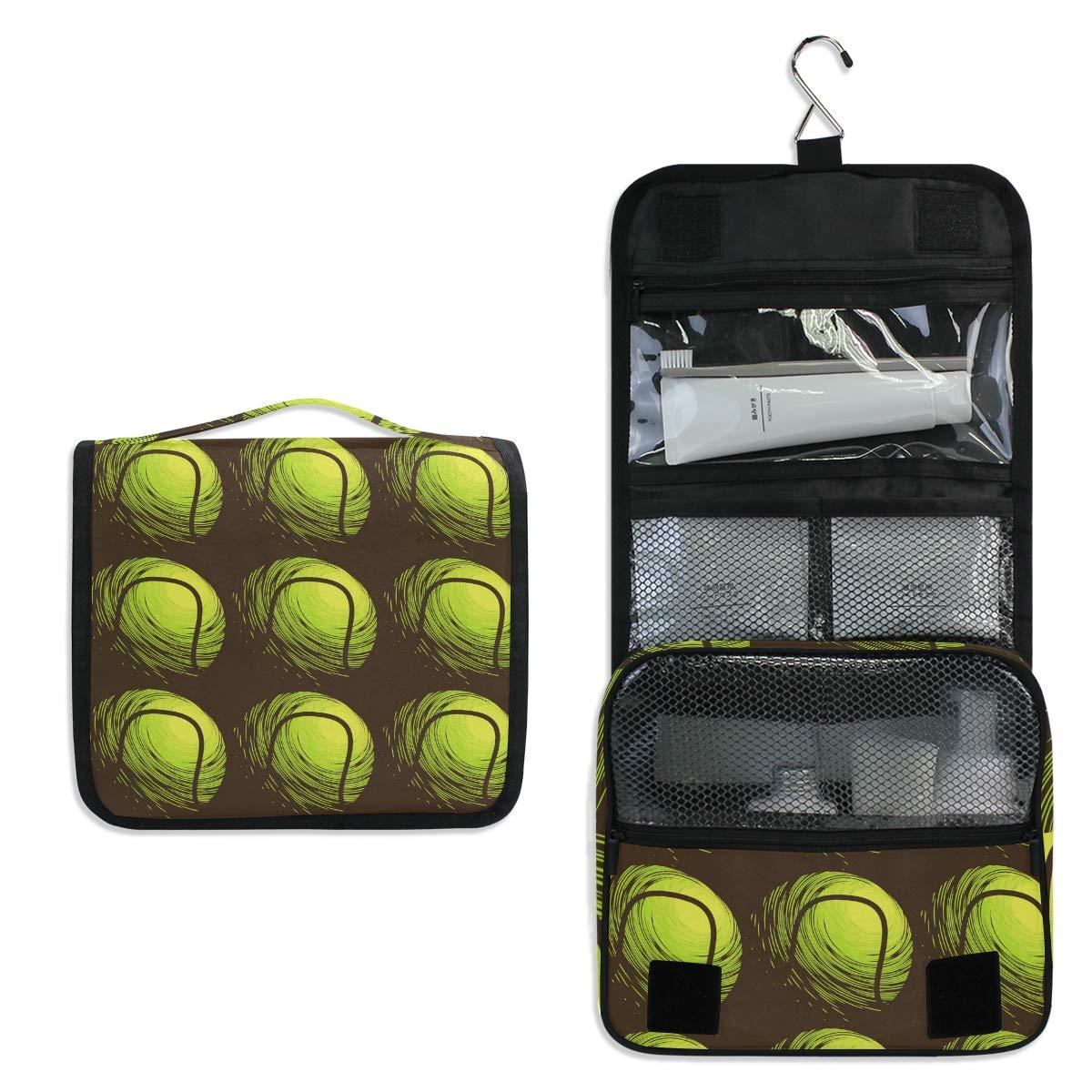 Toiletry Bag Travel Bag Hanging Hook - Sport Tennis Ball Waterproof Cosmetic Bag Portable Makeup Pouch for Girls Men Women