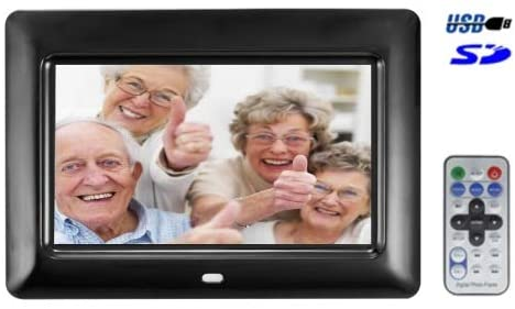 Generic 7 inch TFT LCD Digital Photo Frame with Remote Control, Support USB/SD/MS/MMC Card Input(Black)