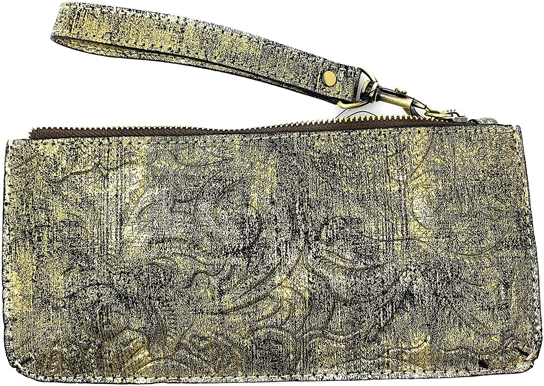 Patricia Nash St. Croce Wristlet, Gold Metallic