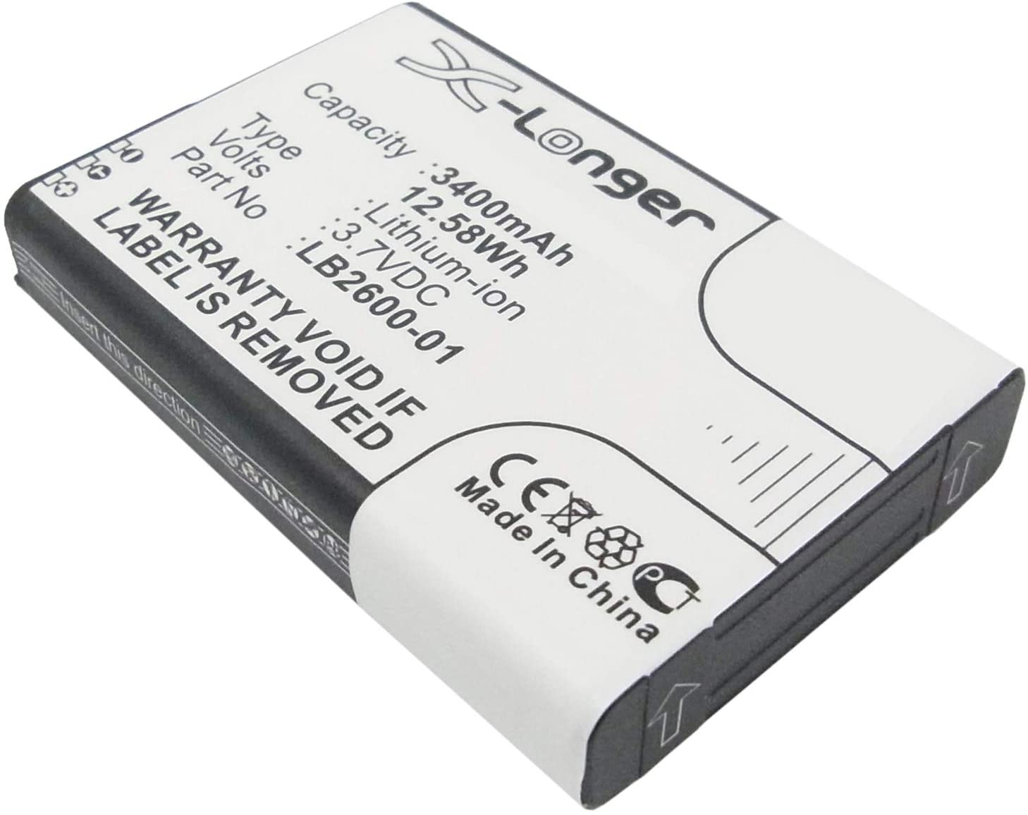 3.7V 3400mAh Battery for 4G Systems XSBox GO+ Replaces LB2600-1