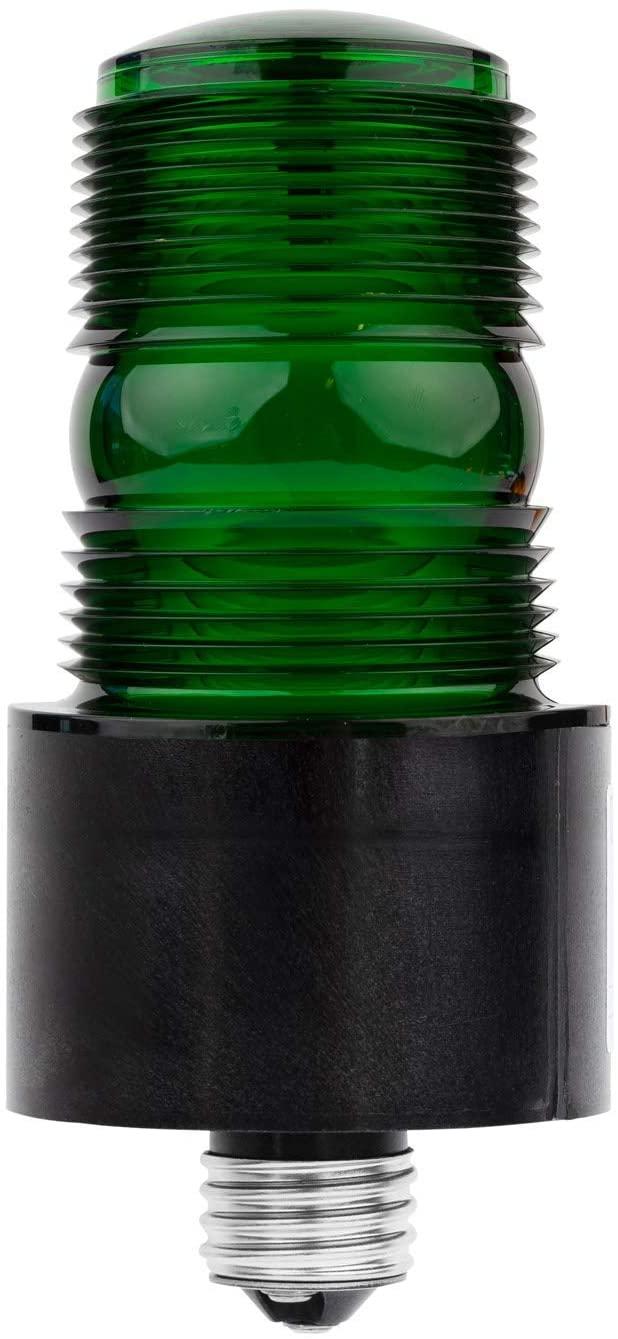 TOMAR 485S-G Microstrobe E26 Medium Bulb Base, 120VAC, Green Lens (Green, Screw-in Base (120 VAC))