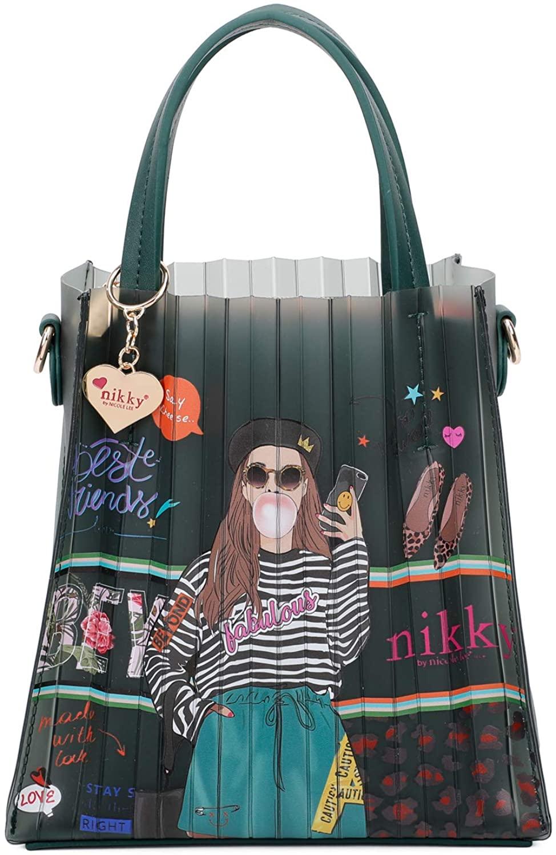 Nikky Olivia Jelly Mini Bag - Stylish Printed mini top handle tote bag for women