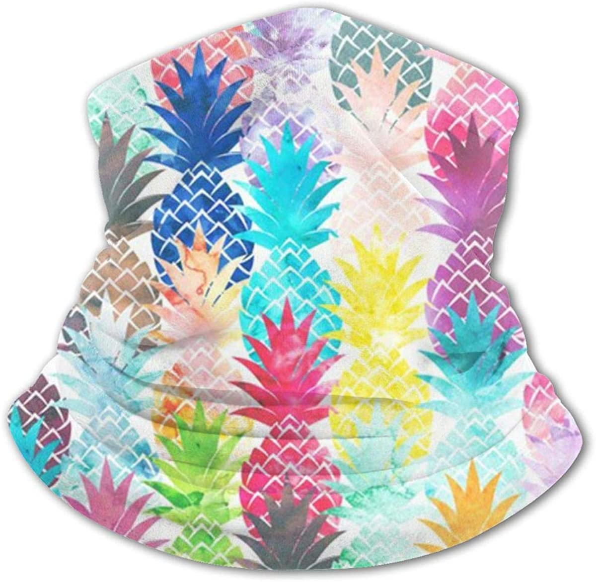 Hawaiian Tropical Pineapple Headwear For Girls And Boys, Head Wrap, Neck Gaiter, Headband, Tenn Fishing Mask, Magic Scarf, Tube Mask, Face Bandana Mask For Camping Running Cycling