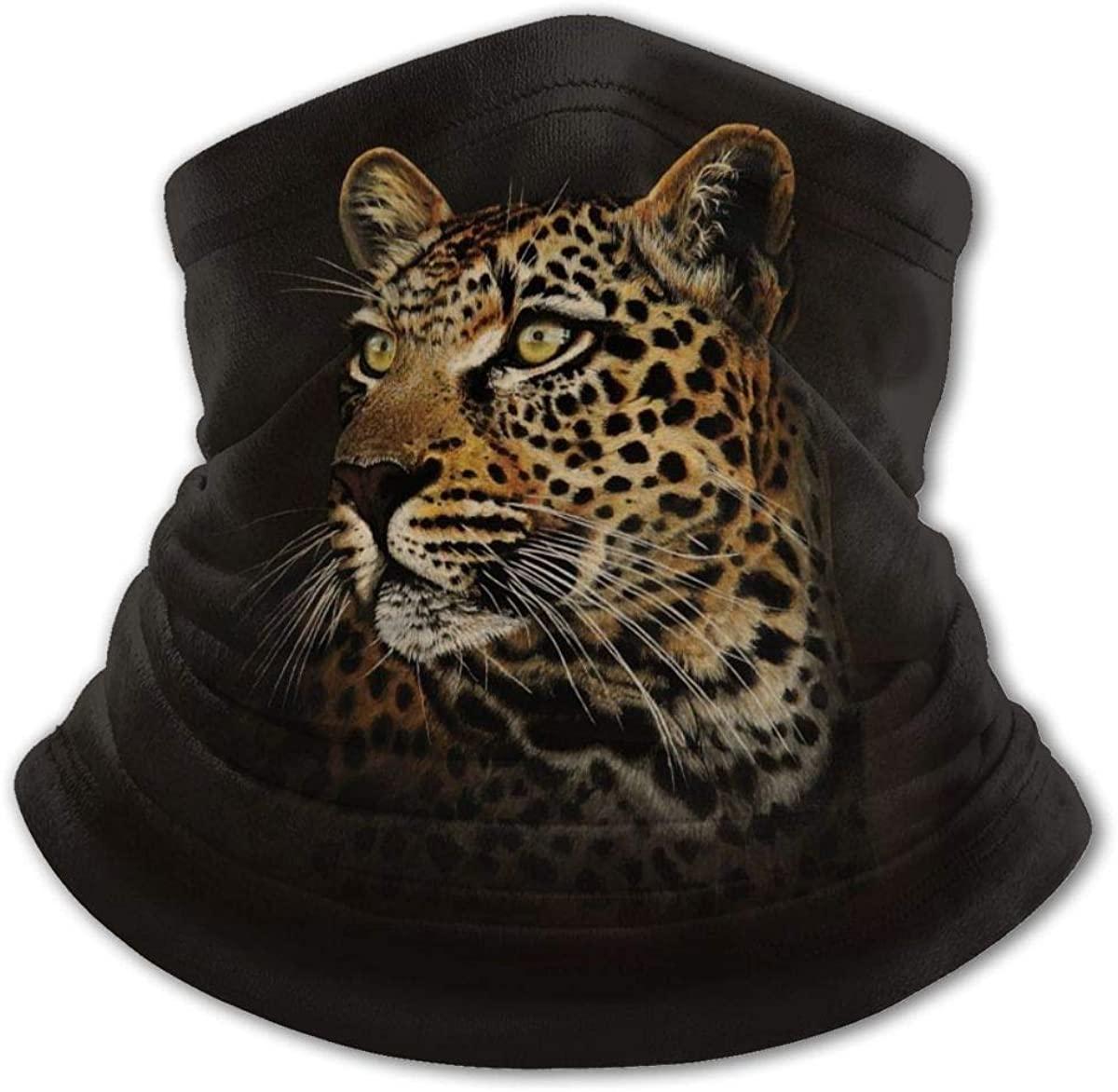 Leopard Headwear For Girls And Boys, Head Wrap, Neck Gaiter, Headband, Tenn Fishing Mask, Magic Scarf, Tube Mask, Face Bandana Mask For Camping Running Cycling