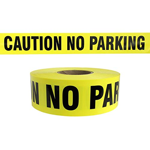 Harris Industries, Inc. BT-16-200-6mil 3in x 200ft Caution No Parking Barricade Tape