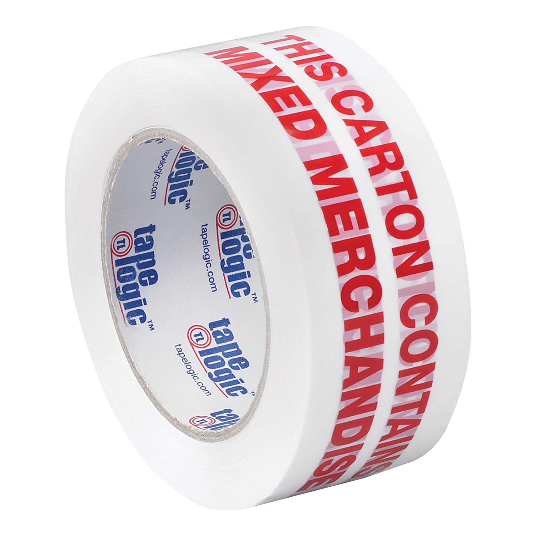 Aviditi Tape Logic 2 Inch x 55 Yard 2.2 Mil Red/White, Heavy Duty Packing Tape,