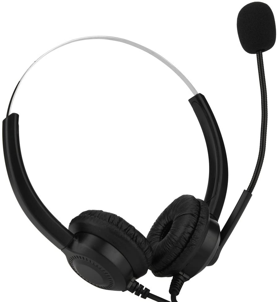 Serounder Call Center USB Headset, Call Center Headset with Microphone/Noise Cancelling / 360° Rotation/Mute Function / 250cm / 98.43in