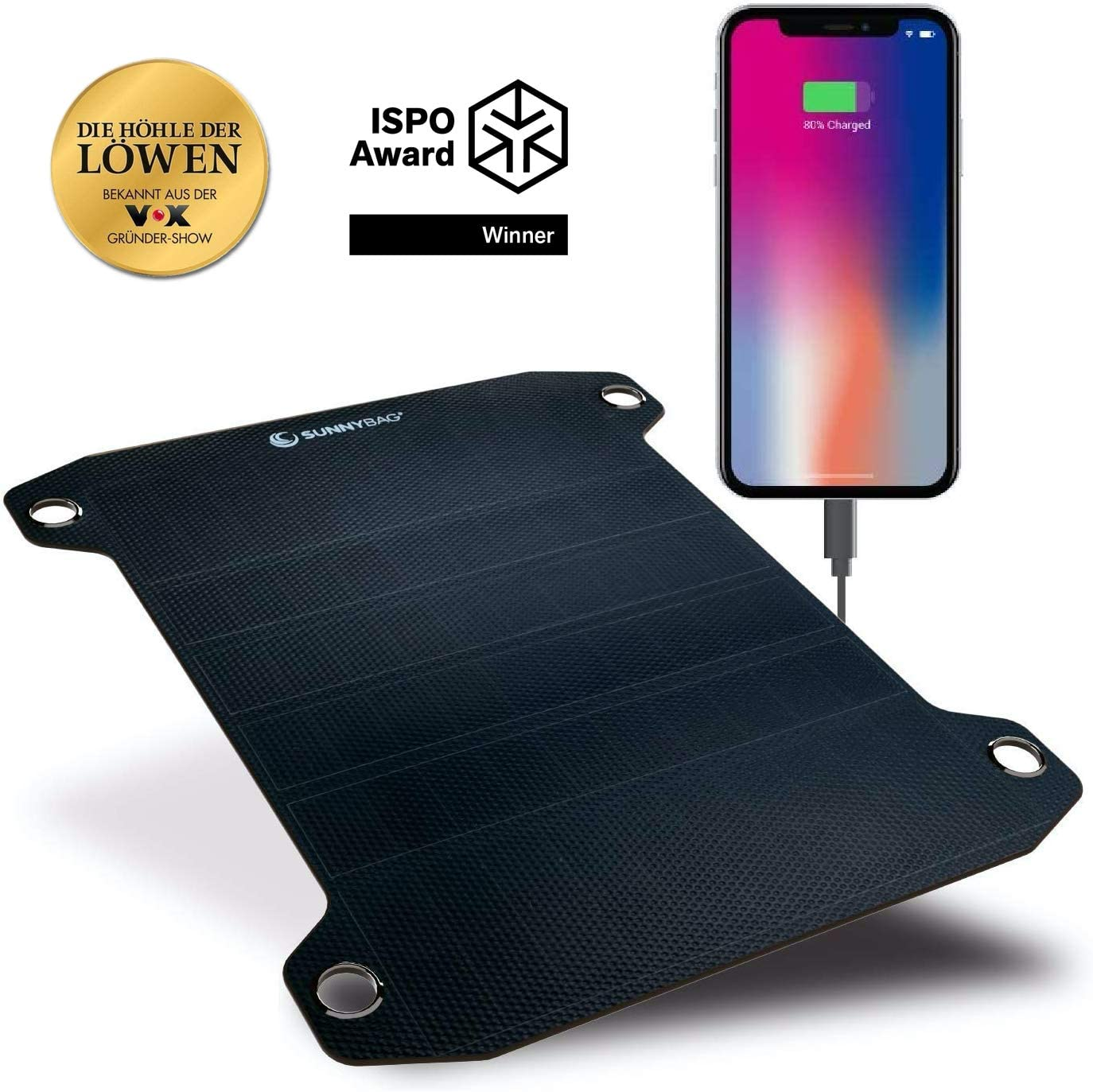 Sunnybag Leaf PRO | Premium Outdoor Solar Charger | The World's Most Powerful Water Flexible Solar Panel | ISPO Award Winner | Ultra-Light and Robust