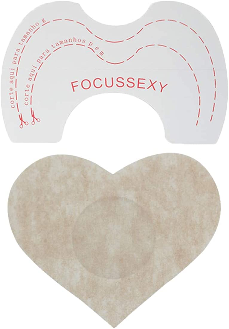 FOCUSSEXY 10 x Nipple Pasties Nippleless Cover & 10 x Bra Lift Tape Adhesive Disposable