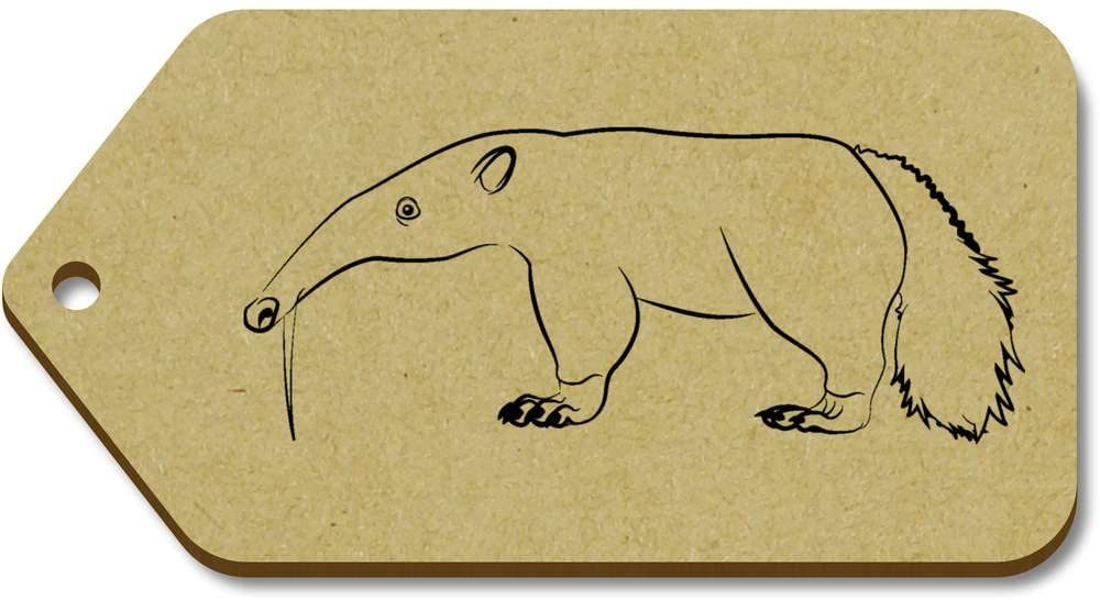 10 x Large 'Anteater' Wooden Gift Tags (TG00012813)
