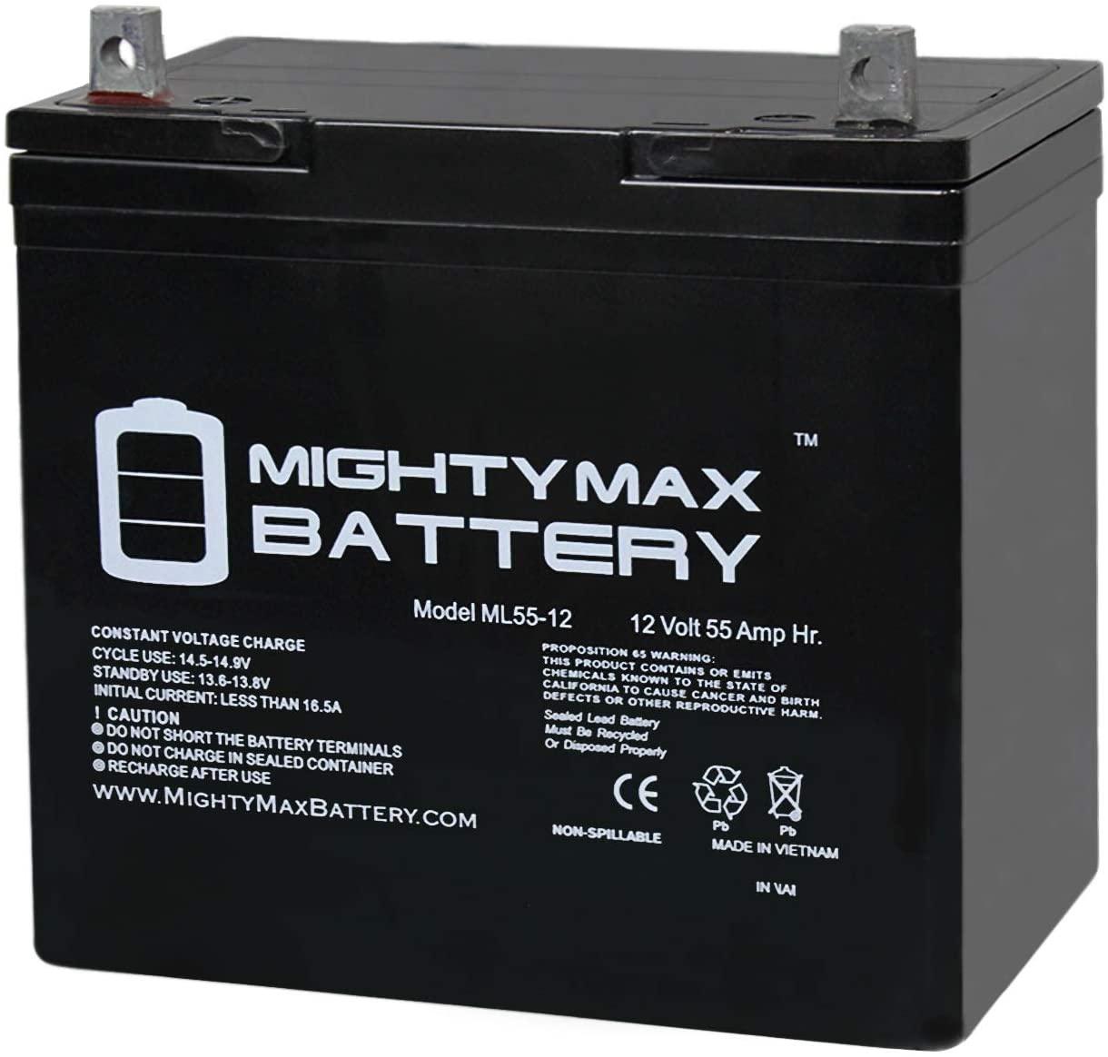 Mighty Max Battery 12V 55AH Fortress Scientific,760,Kids Commuter,Spirit V SLA Battery Brand Product