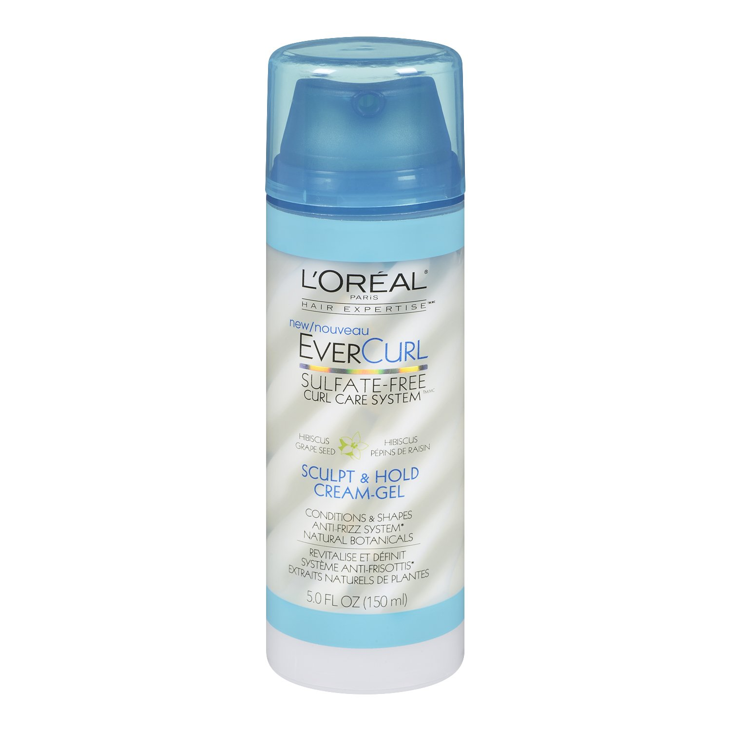 L'Oreal Paris EverCurl Sculpt and Hold Cream Gel, 5.0 Fluid Ounce