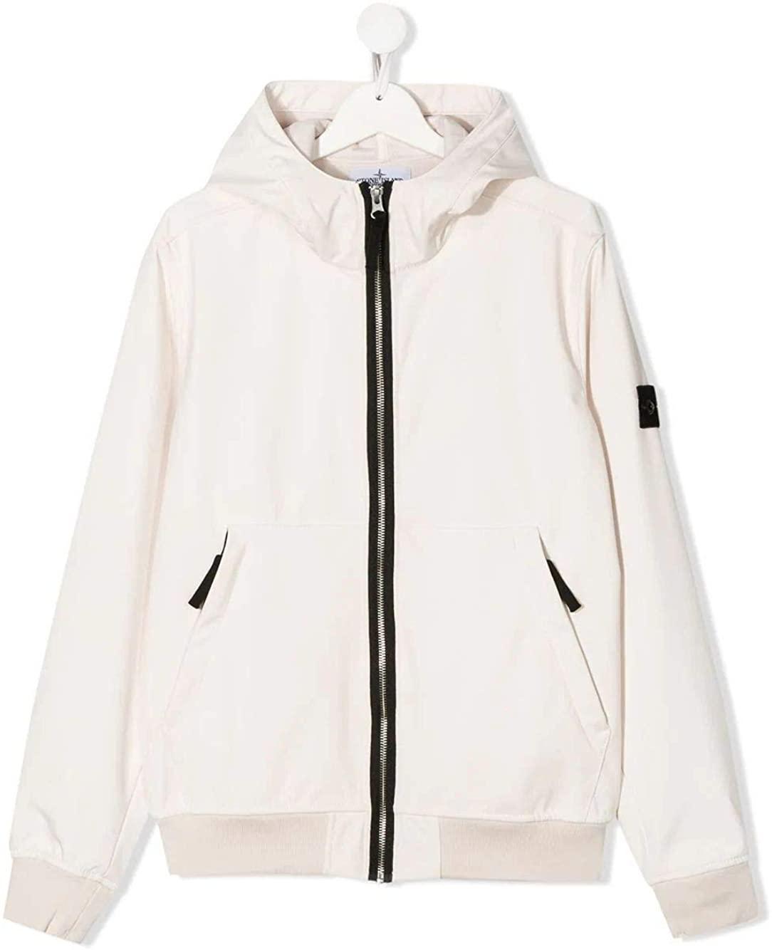 Stone Island Luxury Fashion Boy 721640734V0097 White Polyester Outerwear Jacket | Spring Summer 20