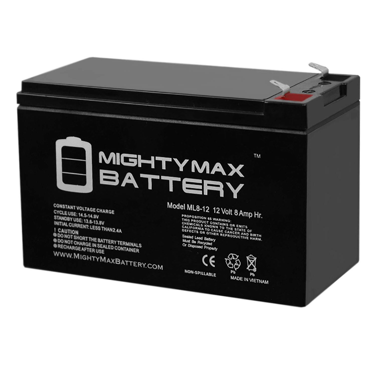 Mighty Max Battery ML8-12 - 12V 8AH Replacement for APC Smart UPS Back RBC 17 Battery Brand Product