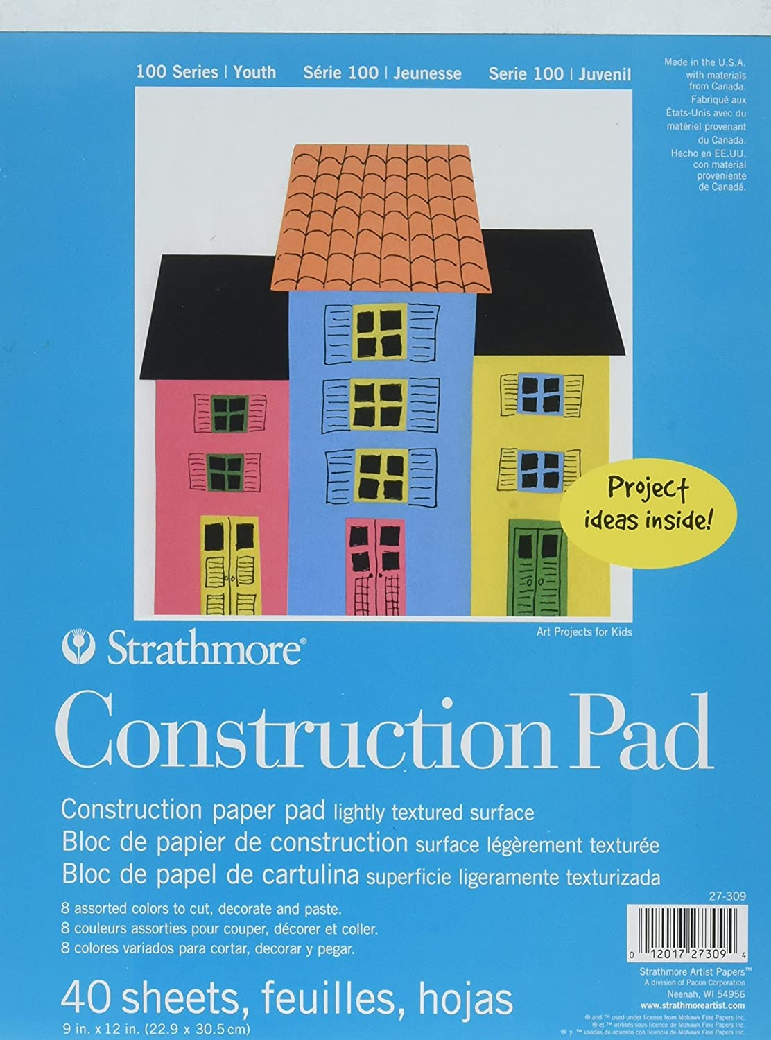 Strathmore (27-309 100 Series Youth Construction Paper Pad, 9