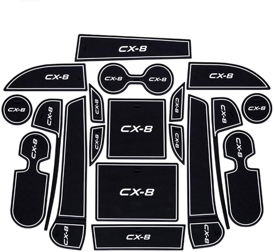 Car Anti-dust Non-Slip Gate Slot mats Kits for Mazda CX-8