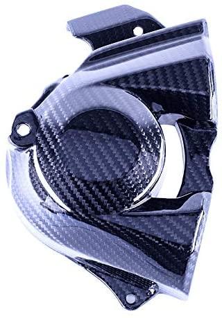 Bestem Carbon Fiber Engine Sprocket Chain Case Cover Guard Cowl for 2015-2018 Ninja H2 H2R