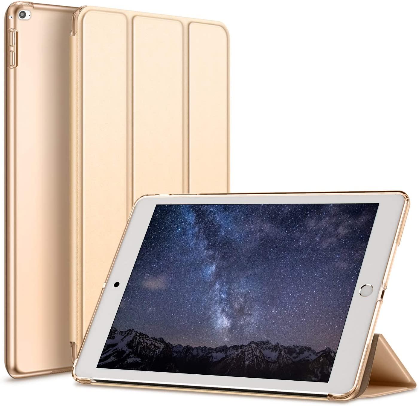 Kenke iPad Mini 4 case 7.9 inch Slim Lightweight Smart iPad Cover 7.9 Inch,Transparent Hard Shell with Auto Sleep Wake for iPad Mini 4th Generation Model A1538/A1550 (Gold)