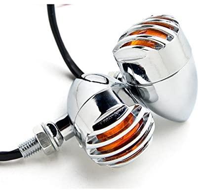 Krator Motorcycle 2 pcs Chrome Amber Turn Signals Lights For Suzuki Intruder Volusia VS 700 750 800 1400 1500